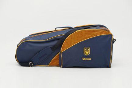 Чехол теннисный (Два отделения) | ЧТ4 | «Ukraine» Тёмно-синий
