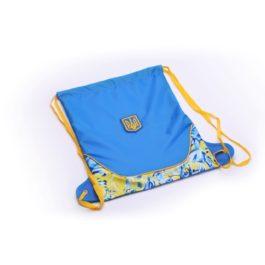 Рюкзак-мешок спортивный | РМ3 | «Ukraine» Голубой