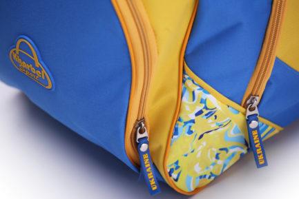 Сумка спортивная | С525 | «Ukraine» Жёлто синий
